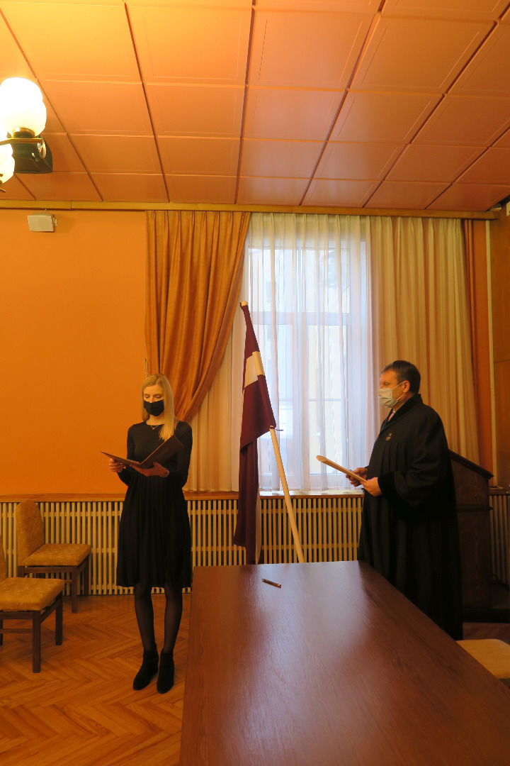 On 5 February 2021 newly recruited Prosecutors took oath in front of Prosecutor General Mr Juris Stukāns